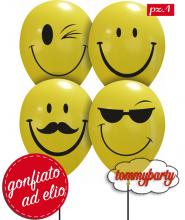 Palloncino Smile 12 pollici/cm.30 gonfiato ad elio