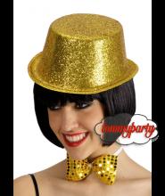 Cilindro glitterato oro pz.1