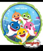 "Palloncino 18"" mylar Baby Squalo ""Baby Shark"""