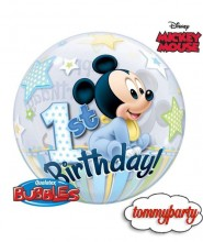 """Palloncino 22"""" Bubble First Birthday Baby Mickey"""