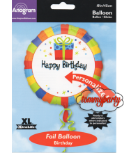 Happy Birthday Present S40 18 palloncino