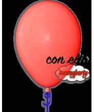 Palloncino 12 pollici/cm.30 rosso chiaro pastello gonfiato ad elio