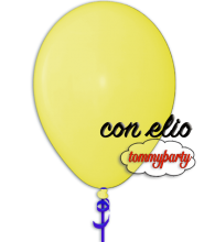 Palloncino giallo chiaro 12 pollici/cm.30 pastello gonfiato ad elio