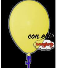 Palloncino giallo scuro 12 pollici/cm.30 pastello gonfiato ad elio