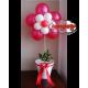 Composizione Fiore rosso in vaso