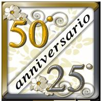 Palloncini 25° e 50° anniversario