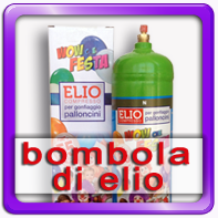 Bombola elio usa e getta