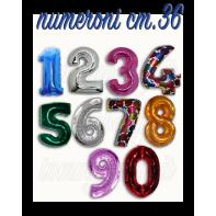 Palloncini Numeroni foil cm.36