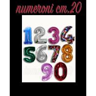 Palloncini Numeroni Foil cm.20