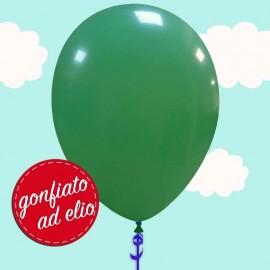 palloncino verde scuro pastello ad elio