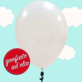 palloncino bianco metallizzato ad elio