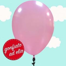 palloncino rosa metallizzato ad elio
