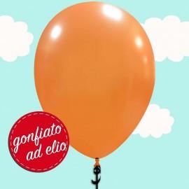 palloncino arancione metallizzato ad elio