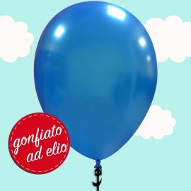 palloncino blu metallizzato ad elio