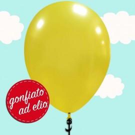 palloncino giallo metallizzato ad elio