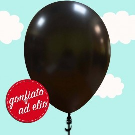 palloncino nero metallizzato ad elio