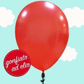 palloncino rosso metallizzato da 13 pollici gonfiato ad elio
