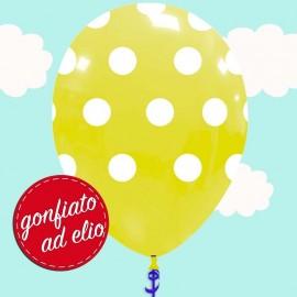 palloncino a pois giallo ad elio