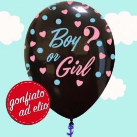 """Palloncino 12"""" Boy or Girl gonfiato ad elio"""