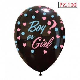 "Palloncino Boy Girl 12"" pz.100"