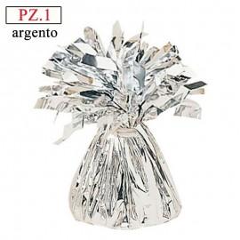 Pesetto Argento in foil per palloncini pz.1