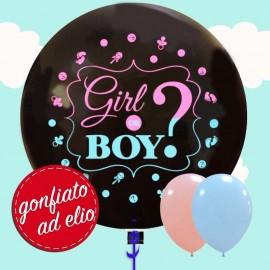"""Boy or Girl Palloncino 36"""" cm.90 gonfiato ad elio"""