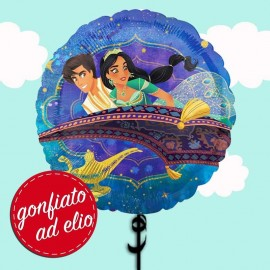 "Palloncino 18"" mylar Aladdin e Jasmine ad elio"
