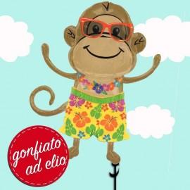 scimmietta gonfiato ad elio palloncino