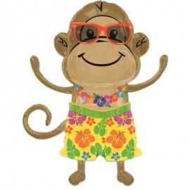 palloncino sgonfio scimmietta con occhiali