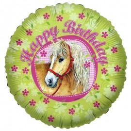 palloncino con immagine cavallo