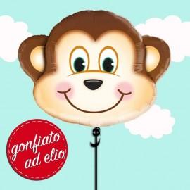 palloncino scimmia gonfiato ad elio