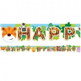 festone animali della giungla happy birthday