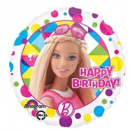 palloncino barbie happy birthday
