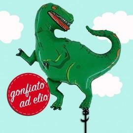 palloncino dinosauro Rex gonfiato ad elio