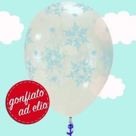 palloncino con fiocchi di neve ad elio
