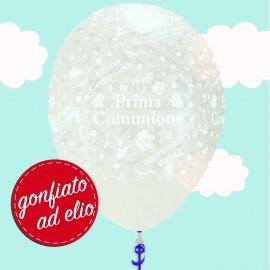 palloncino trasparente prima comunione ad elio