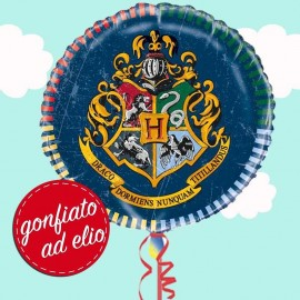 palloncino Hogwarts rotondo gonfiato ad elio