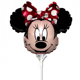 palloncino mini Minnie fiocco rosso