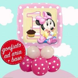 composizione palloncino baby minnie primo compleanno