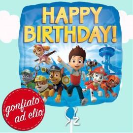 palloncino Happy birthday paw patrol ad elio