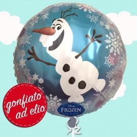 palloncino di Olaf gonfiato ad elio