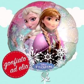 palloncino di Elsa e Anna in mylar gonfiato ad elio