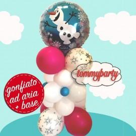 composizione con palloncino di Olaf