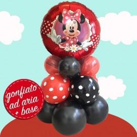 composizione palloncino minnie fiocco rosso