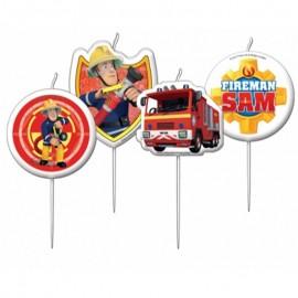 candele Sam pompiere