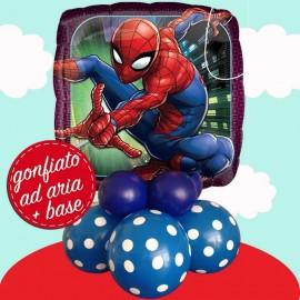 composizione Spiderman con base