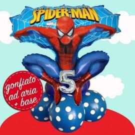 composizione palloncino Spiderman super