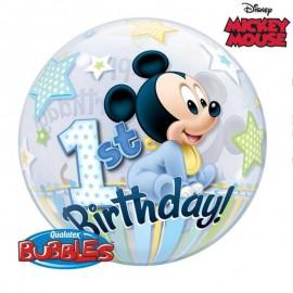 palloncino bubbole primo compleanno Mickey