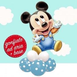 composizione compleanno baby Mickey da tavolo