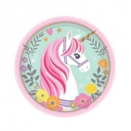Unicorno 8 piattini Magical...
